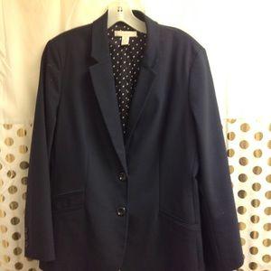 Chico Blazer navy Blue Jacket EUC 2 2XL profession